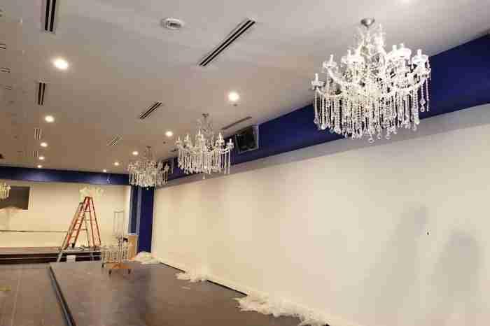 NIghtclub installation - Maria Theresa Chandeliers