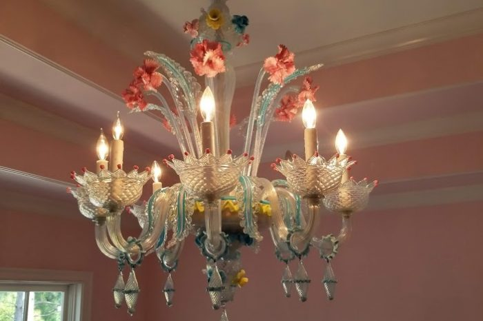 Italian Murano Glass chandelier - The River Club