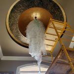 12' long hanging crystal ball installation
